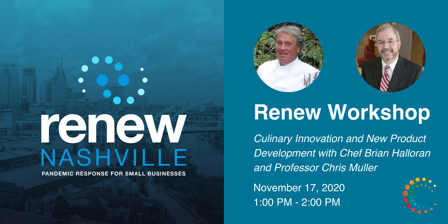 Culinary Innovation and New Product Development w/ Chef Brian Halloran and Professor Chris Muller